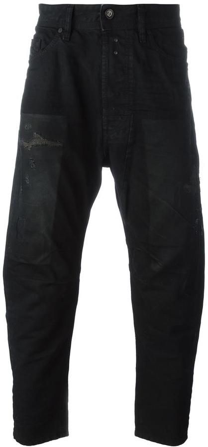 Diesel distressed tapered jeans