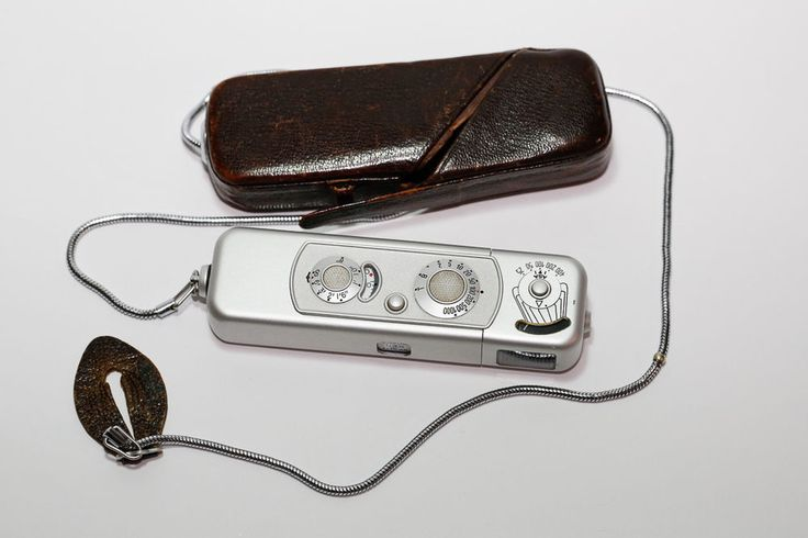 Minox B Spy Camera with leather case and chain