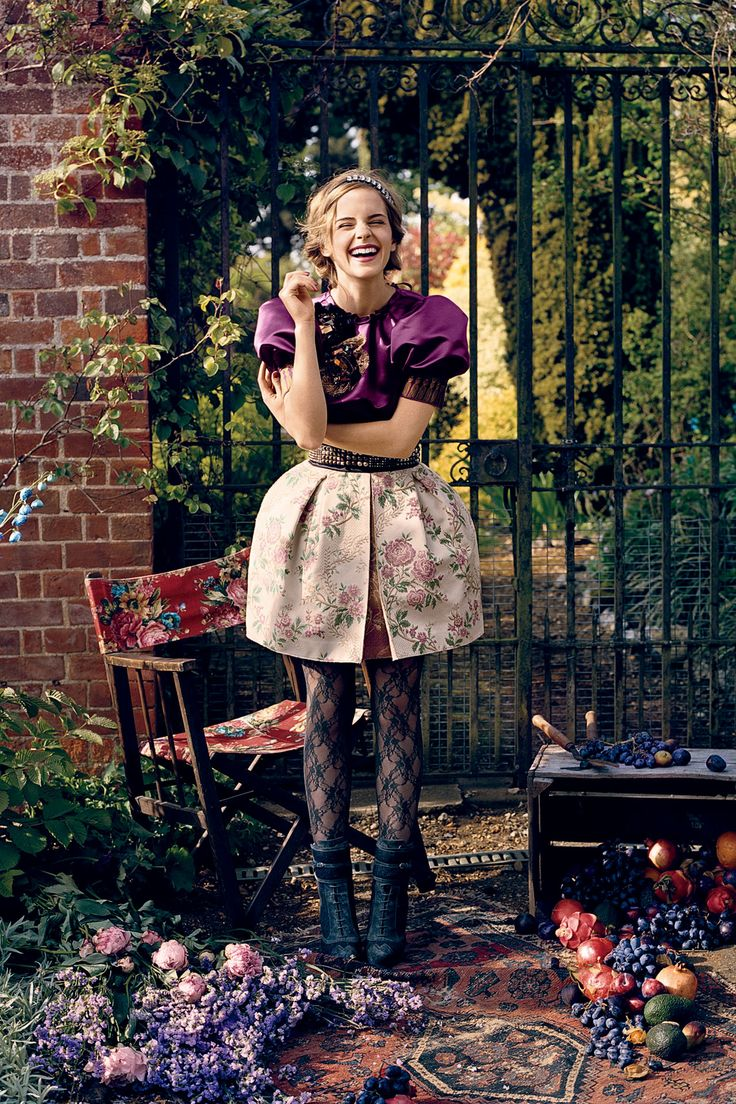 See Harry Potter star Emma Watson star in the pages and on the cover of of Teen Vogue
