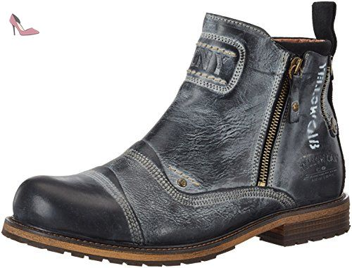 Soldier Bottes Cab Homme M Noir Chaussures Yellow 47 wS78qBBR
