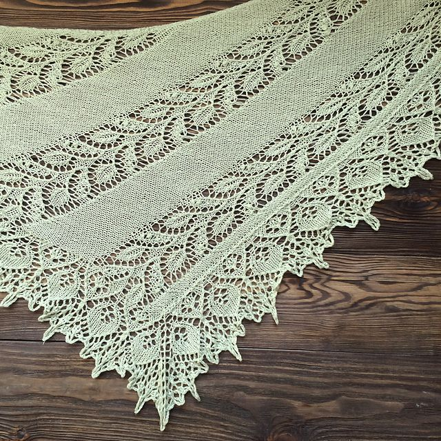 Ravelry: Oleaster Lace Shawl pattern by Alena Malevitch