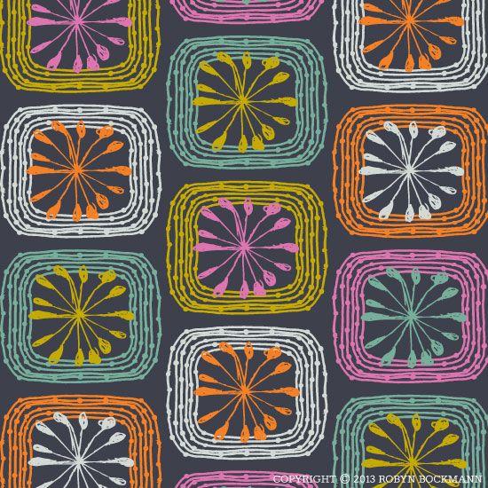 """Harvest Quilt"" Original surface pattern design by Robyn Bockmann.  Copyright 2013."