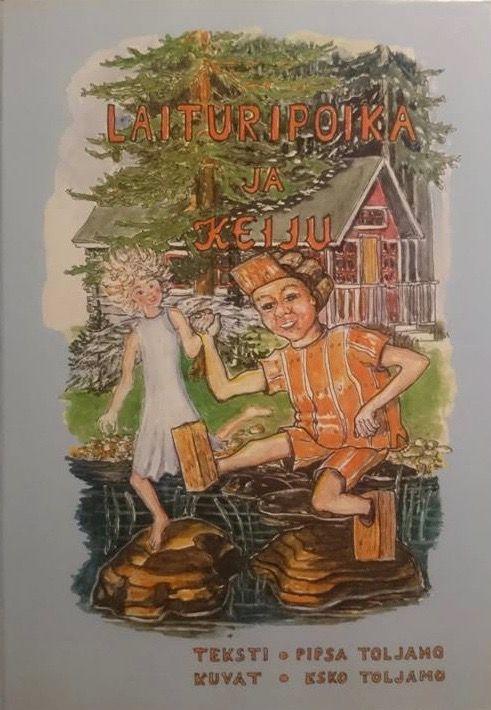 """Tekijöiden päivillä 2016 Pipsa ja Esko Toljamo, Ranua, satukirjallaan """"Laituripoika ja Keiju""""."""