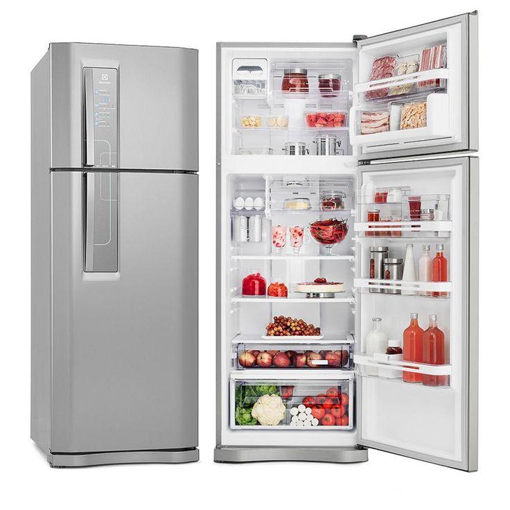 Geladeira / Refrigerador 2 Portas Electrolux Frost Free 459L DF52X Inox  - Electrolux com o melhor preço é no Walmart!