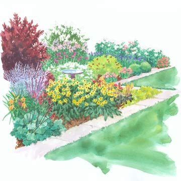 A Colorful Side-Yard Garden