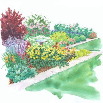 A Colorful Side-Yard Garden