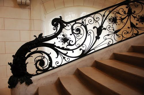 | Stair railing at the Petit Palais in Paris | Lovely ironwork!