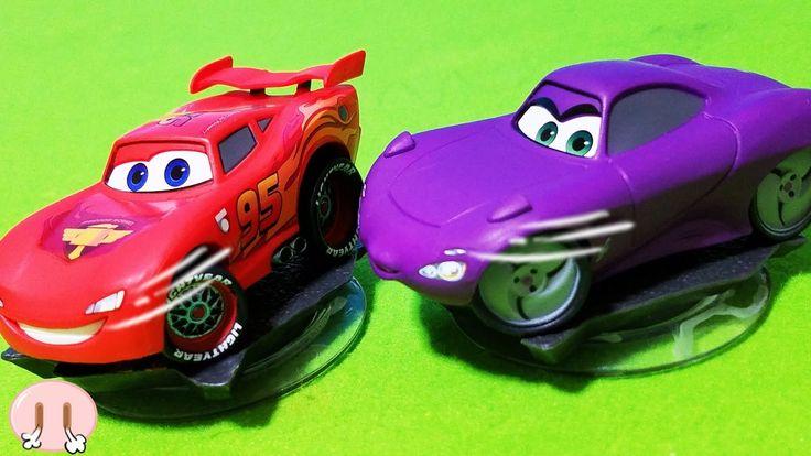 ディズニー カーズ おもちゃ プレイセット・パック ライトニング・マックィーン ホリー・シフトウェル 開封動画 乗り物 車 アンパンマン おかあさん