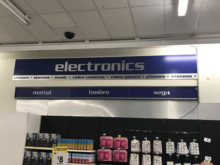 Electronics section at Kmart still advertises Sega as main marquee