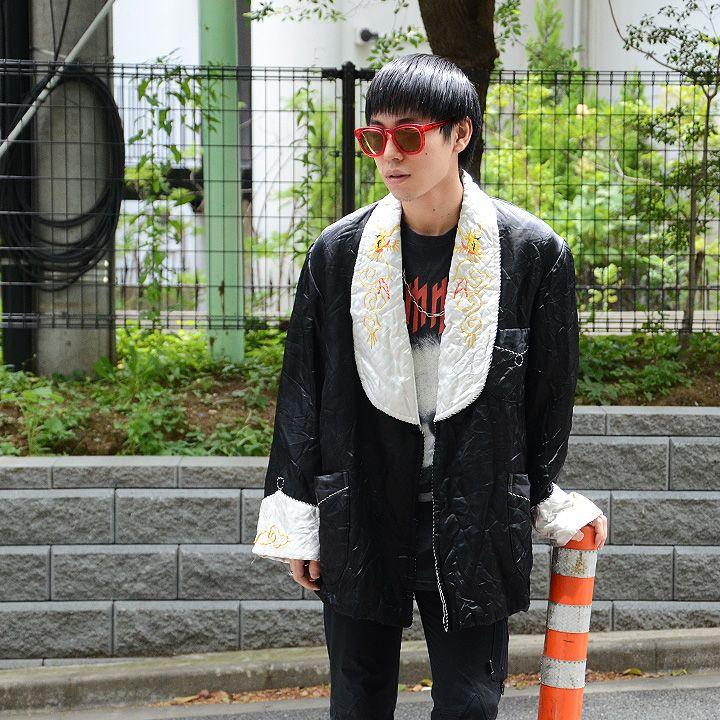 60's スカガウン ドラゴン刺繍! 黒 実寸(L位) | *tops | | LABORATORY/BERBERJIN R