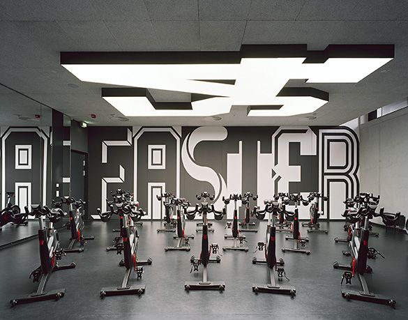 Strong Wall Graphic  Büro Uebele // Adidas Gym Spatial And Interior Design  2014