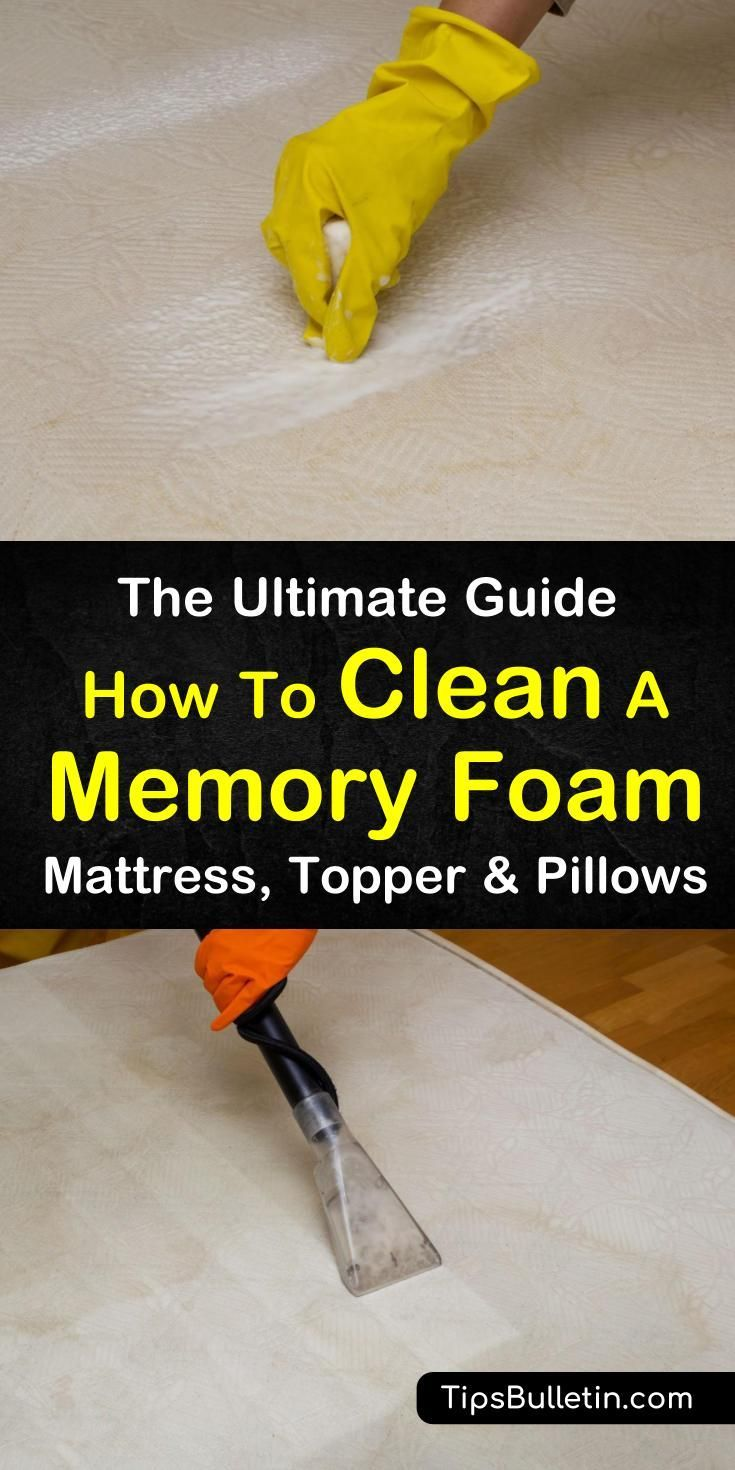 How To Clean A Memory Foam Mattress Topper And Pillows The Clean Memory Foam Mattress Mattress Cleaning Memory Foam Mattress