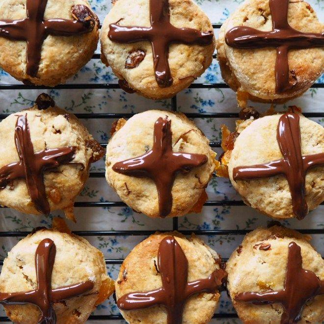 choc cross scones