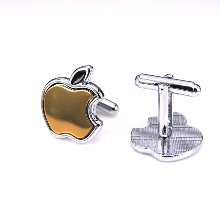 Vintage Gold Apple Cufflink 6 Colors     FREE Shipping Worldwide     http://fashjewels.de/fashion-cuff-links-gold-apple-design-factory-supply-anti-oxidation-copper-6-colors-vintage-mens-wedding-gift-free-shipping/