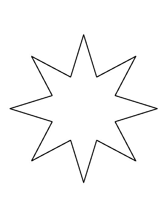 Eight point star pattern. Use the printable outline for crafts, creating stencils, scrapbooking, and more. Free PDF template to download and print at http://patternuniverse.com/download/eight-point-star-pattern/