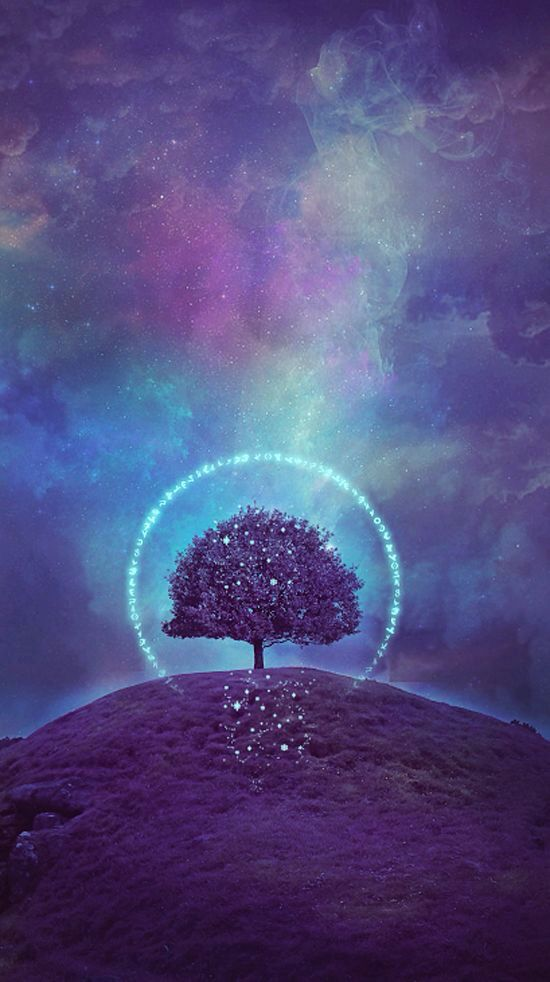 Purples Tree Of Life Iphone Wallpapers 2 Lock Screens Background Art Illustration Cell Phone