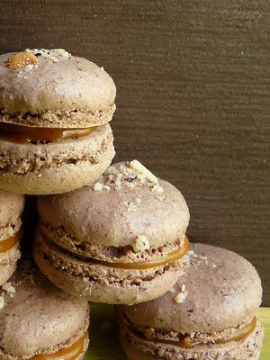Hazelnut Macaron with Caramel-Coffee Ganache ~ Trying to compile a macaron recipe and compare.