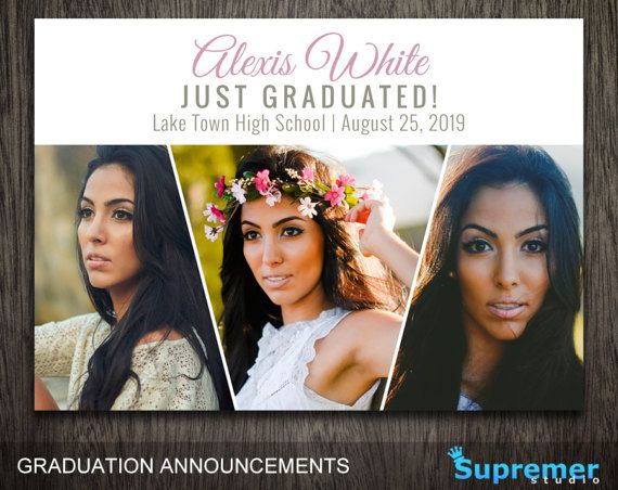 Graduation Invitation Template - Graduation Photoshop Template PSD - Senior Graduation Announcement Template - Graduation Invitation GTA002