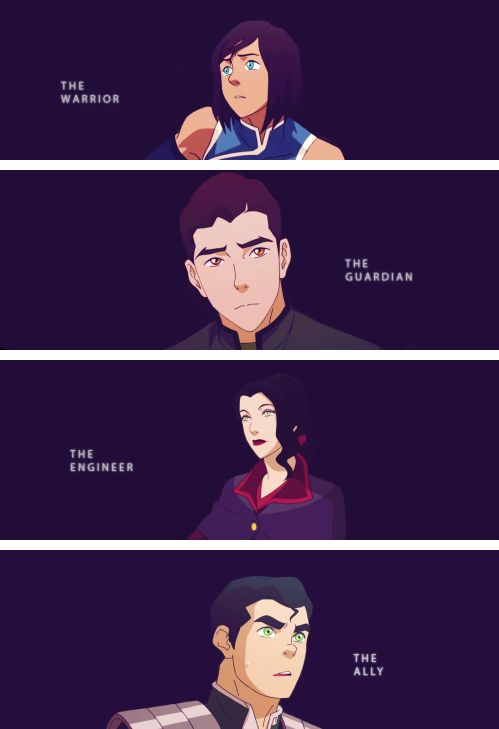 The Legend of Korra. The Krew.  All of them together, my little darlings.