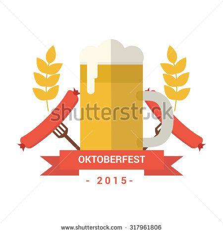 Logo Beer October Fest - stock vector