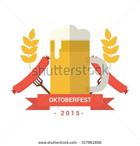 Logo Beer October Fest - stock vector