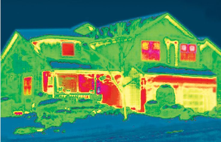 No Exaggeration - 40% or more of a home's heat escapes through windows as shown here in red. Reduce this loss and increase the energy efficiency of your home with Hunter Douglas window treatments.