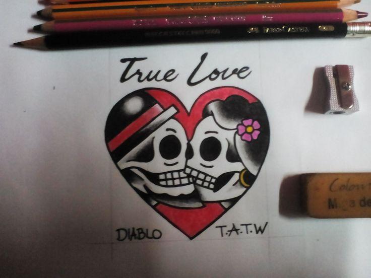 True love tattoo! Old school style.
