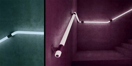 The LED Staircase Handrail is a Concept Designed by Zoran Sunjic from Croatia.