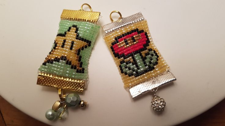 Flower and Star pendents  - Mario All Stars