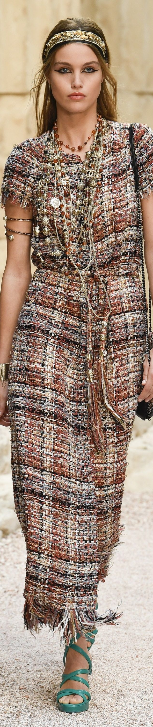 """Chanel Cruise 2018 at the Grand Palais in Paris, """"The Modernity of Antiquity"""" inspired by Greece. vogue.com"""