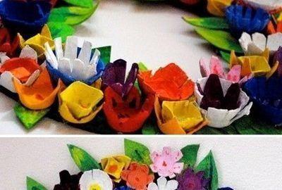 Colorful wreath