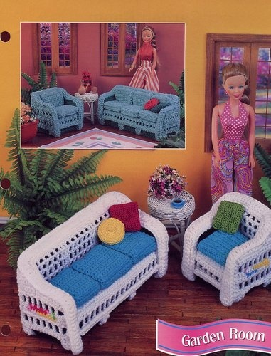 Garden Room Furniture for Barbie Doll Annie's Crochet Pattern 30 Days to Pay | eBay