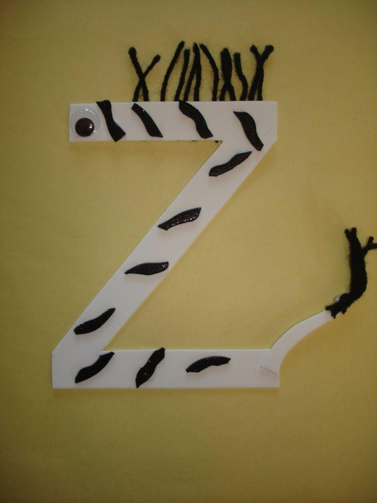 Spring week 2.. Letter Z zebra craft.