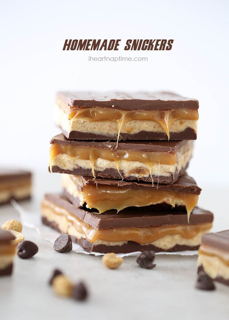 Homemade snickers on iheartnaptime.com ...tastes better than the real thing! These are INCREDIBLE!