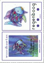 Woordkaarten De mooiste vis van de zee - groot met lidwoorden en klankgroepen