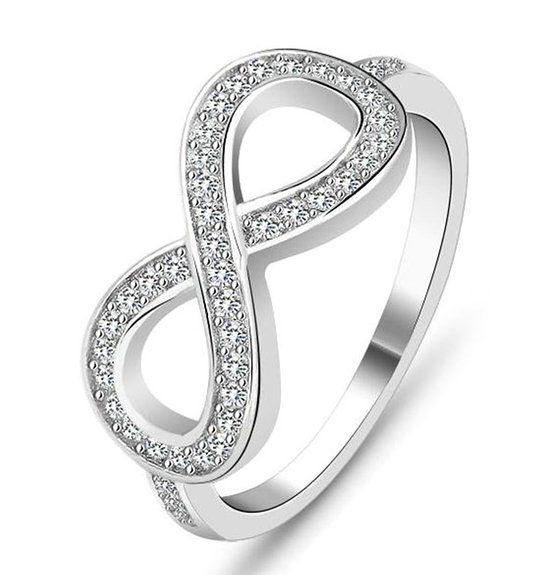 Bishilin Argent 925 Zircone Cubique Infini Symbole Bague de Fiançailles pour Femmes Taille 6