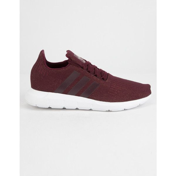 Adidas Swift Run Shoes (€70) ❤ liked on Polyvore featuring shoes, athletic shoes, laced up shoes, cushioned shoes, cushioned running shoes, lace up shoes and adidas shoes