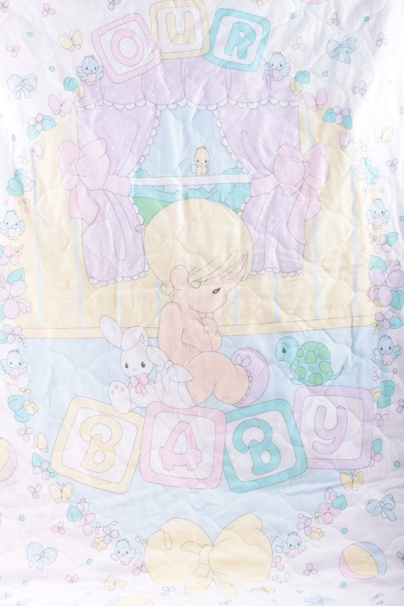 Vintage Baby Blanket Precious Moments Our Baby Nursery