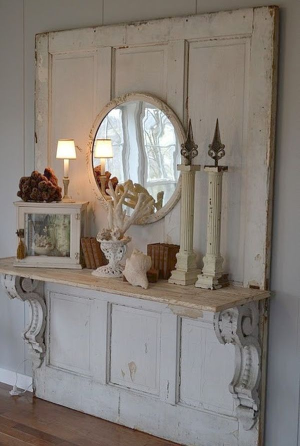 Shabby Chic Decor For Kitchen Shabby Chic Mantel Decor Decor Old Wood Doors Home Decor