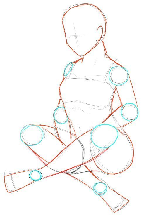 Pose Referenz: weibliches Sitzen – gekreuzte Beine von Iki-Fujisaka