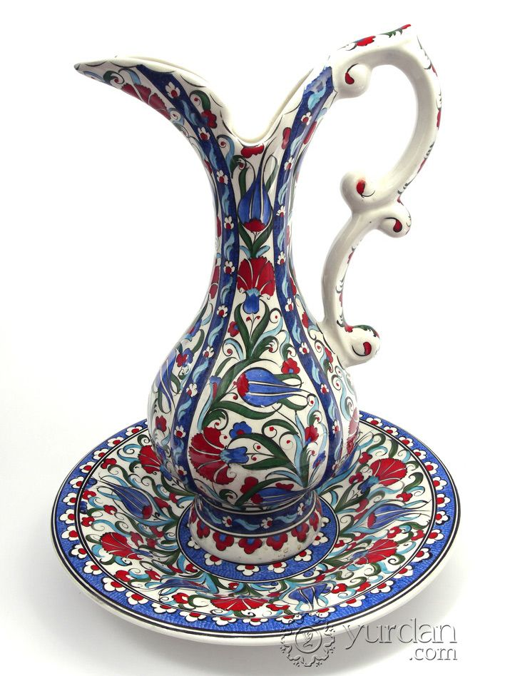 Iznik Design Ceramic Pitcher Set