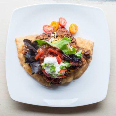 Bannock Taco at Thunderbird cafe in Whistler, BC!