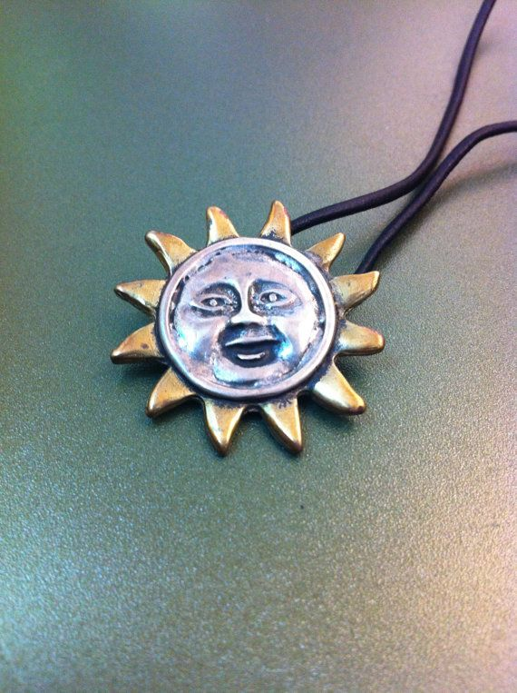 Funny happy sun pendant sterling silver by ArchipelagosBreeze, €34.00