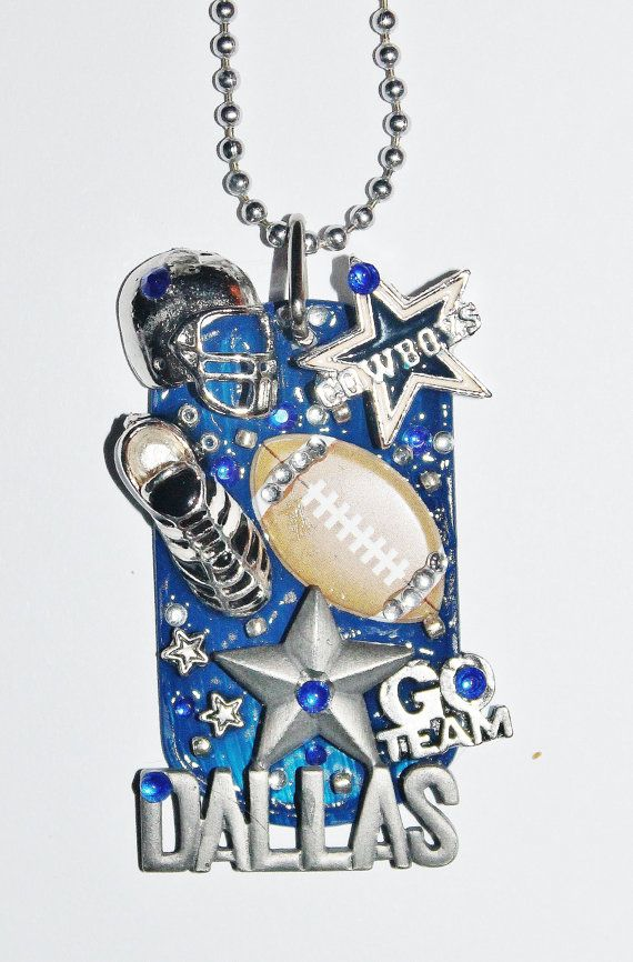 Dog Tag Necklace Dallas Cowboys football by Foreverpeace on Etsy, $28.00