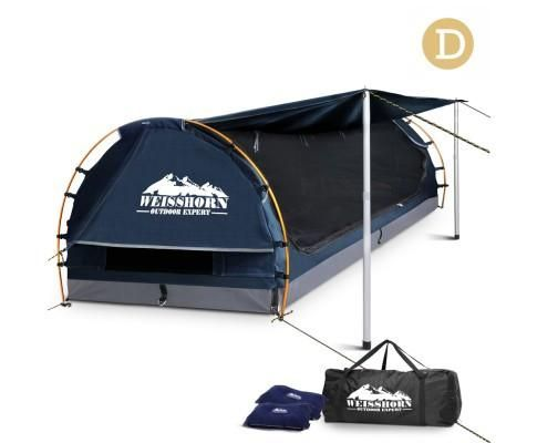 Double Camping Canvas Swag with mattress & x2 FREE PILLOWS  *FREE shipping in Aus