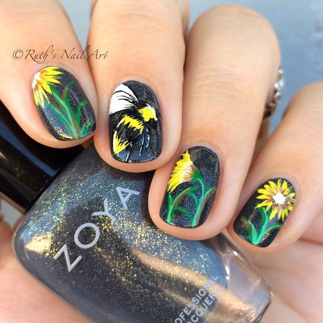 25 gorgeous bumble bee nails ideas on pinterest pencil nails welcome the sunny season with these bright summery nail art designs prinsesfo Choice Image