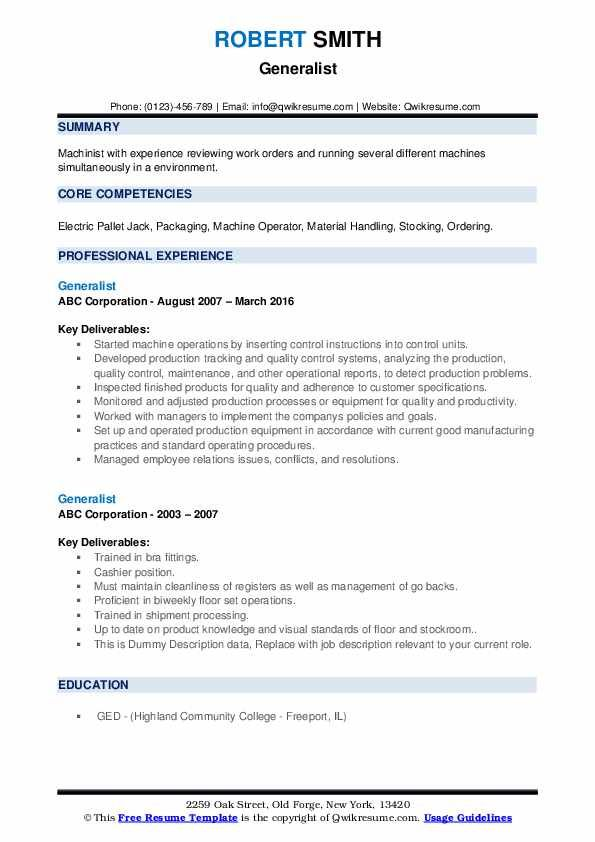 Generalist Resume Samples Qwikresume Image Result For Resume Resume Core Competencies Diagram Online