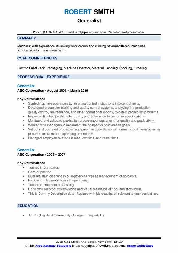 Generalist Resume Samples Qwikresume Image Result For Resume Resume Core Competencies Diagram Online