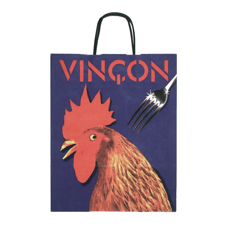 Something to cluck about ... a classic Vinçon carrier bag from the iconic Barcelona design store