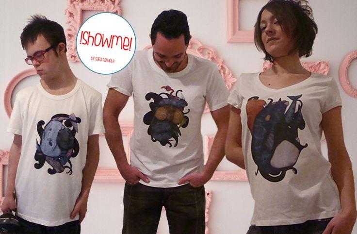 Esempi di t-shirts uomo/donna serie Camuffi
